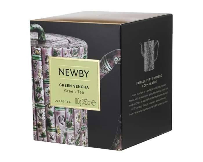 Чай зеленый листовой Newby Heritage Green sencha, 100 г
