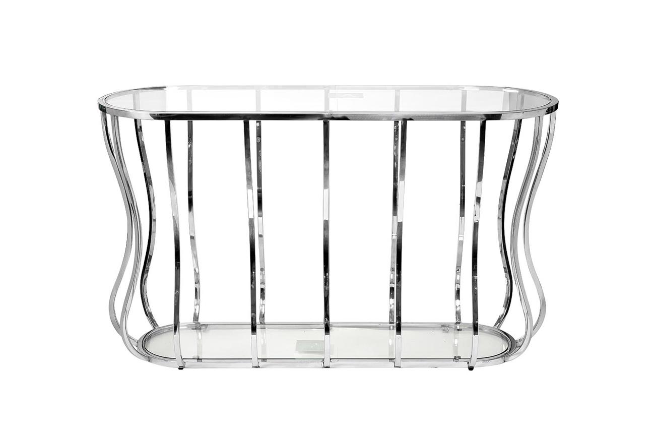Консоль прозрачное стекло/хром (13RXC4035-SILVER) Garda Decor