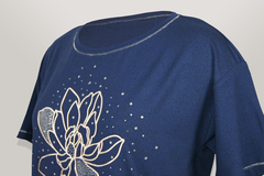 Блузка Per Mio 1421 цветок к/р