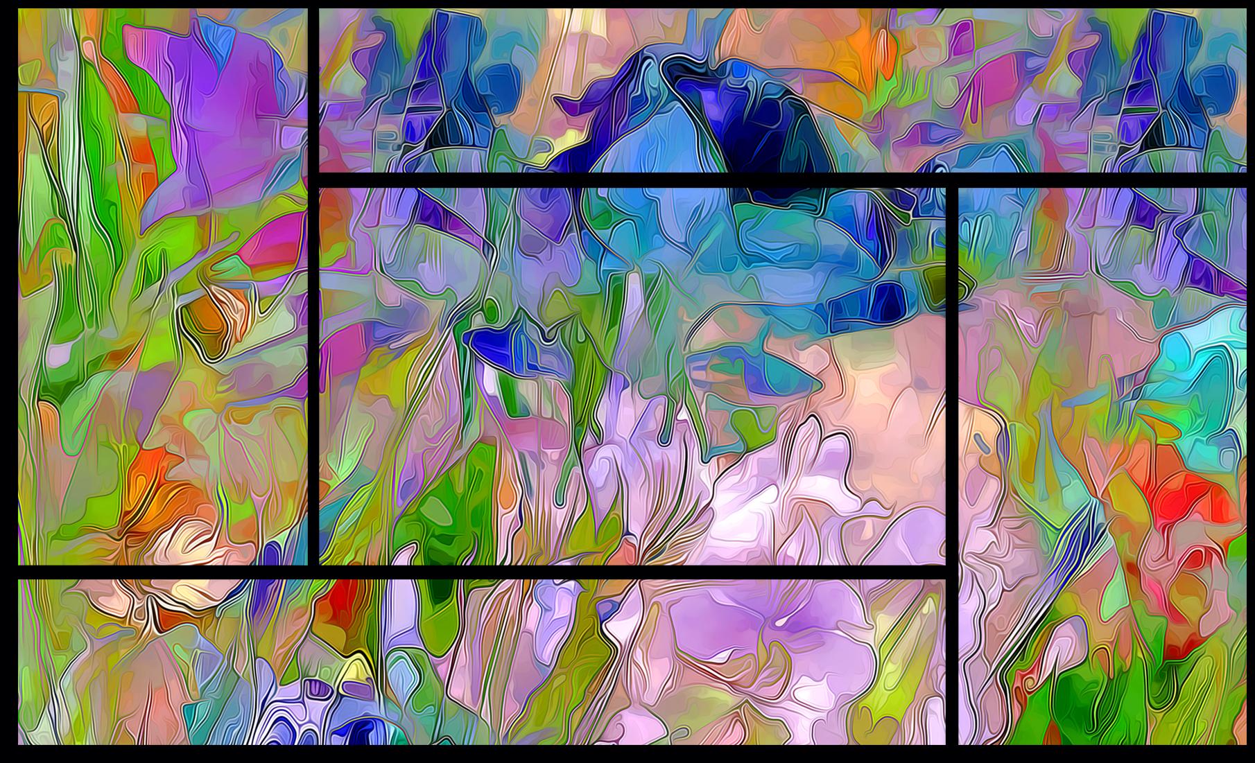 """Цветы Модульная картина """"Великолепие"""" М740.png"""