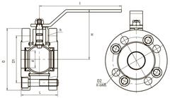 Схема компактный 11с67п LD КШ.Р.Ф.125.016.Н/П.02 Ду125 стандартный проход