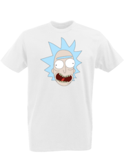 Футболка с принтом мультфильма Рик и Морти (Rick and Morty) белая 0002