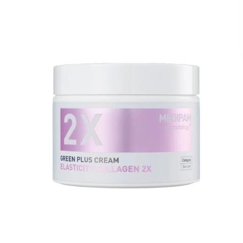 MEDIPAM Крем Двойной уход для восстановления эластичности с коллагеном (100мл) / Green Plus 2x Cream Elasticity Collagen