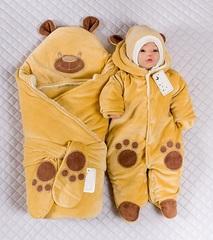 Комплект на выписку зимой Little Bear капучино