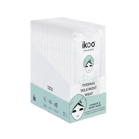 Термальная шапка-маска ikoo Thermal Treatment Wrap – Увлажнение и блеск (display fulfilled with 15 sachets) |