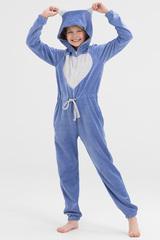Пижама детская велюровая голубая