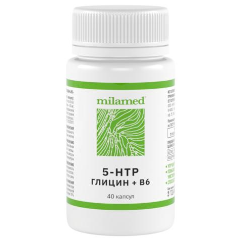5-HTP+Глицин+В6 Milamed, 40 капсул