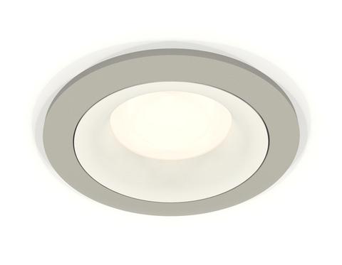Комплект встраиваемого светильника XC7623001 SGR/SWH серый песок/белый песок MR16 GU5.3 (C7623, N7010)