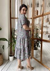 Стеша. Сукня з воланами великих розмірів. Оливка