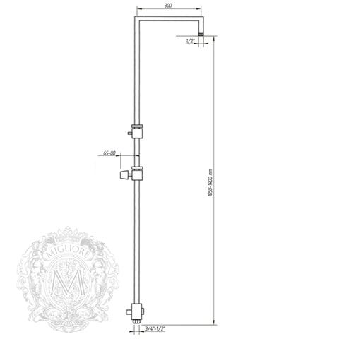 Душевая колонна Squadra Migliore  ML.SQR-36.263  схема