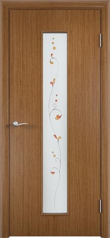 Дверь Верда С-21, стекло Сатинато (Амелия), цвет орех, остекленная