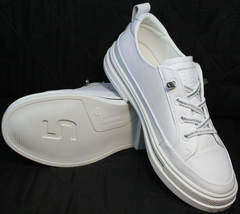 Модные белые туфли сникерсы женские летние El Passo sy9002-2 Sport White.