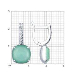 94022663 - Серьги из серебра с кристаллами Swarovski и фианитами