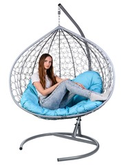 Двухместное подвесное кресло GEMINI GRAY