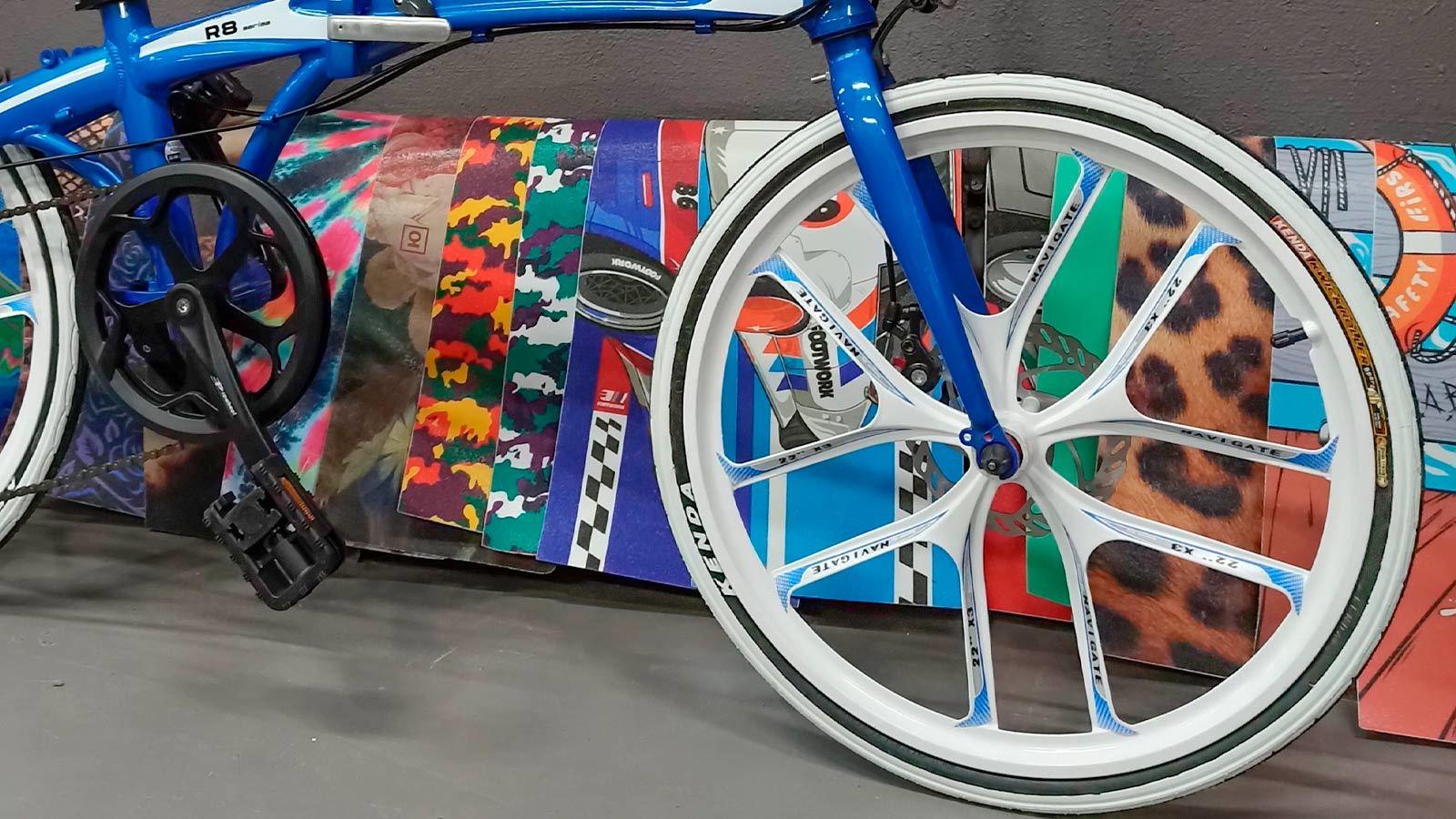 переднее колесо литьё городской велосипед складной