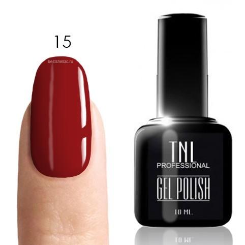 TNL Classic TNL, Гель-лак № 015 - темно-красный (10 мл) кисточкой 15.jpg