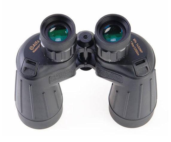 Окуляры с резиновыми наглазниками Veber Alfa 7x50 WP