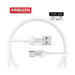 Kingleen Cable K29 For Type-C 1M 2A White MOQ:85