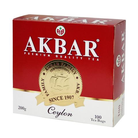 Чай Акбар Ceylon черный 100 пакетиков