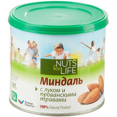 Миндаль Nuts for life жареный с луком и прованскими травами 115 г