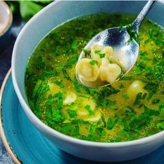 Суп «Дюшбара» с пельмешками из баранины / 350 мл
