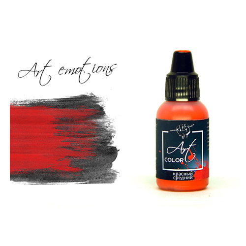 Pacific 88 Art Color P-ART121 Краска Pacific88 ART Color Красная Средняя (Red Medium) укрывистый, 18мл P-ART121.jpg