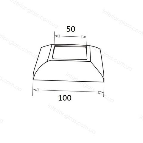 Крышка декоративная для стойки 50*50 мм ST-437
