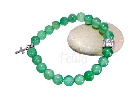 браслет из зелёного агата