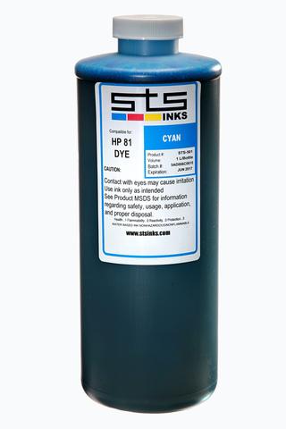 Водорастворимые чернила STS для HP Cyan 1000 мл