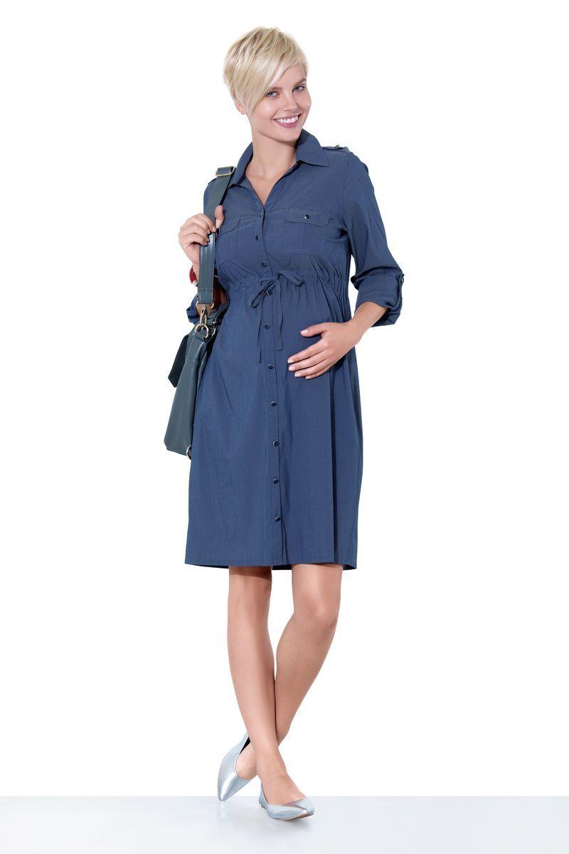 Фото платье для беременных EBRU от магазина СкороМама, индиго, размеры.