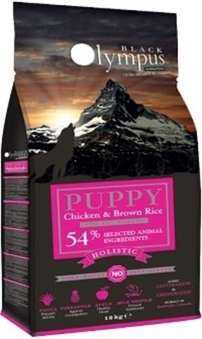 Black Olympus Puppy Medium Chicken & Rice - Для щенков средних пород, курица/коричневый рис 2 кг.