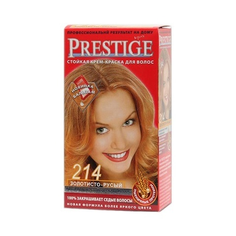 Краска для волос Prestige 214 - Золотисто-русый, 50/50 мл.