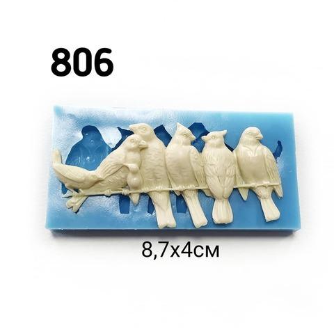 0806 Молд силиконовый. Птички на проводах.