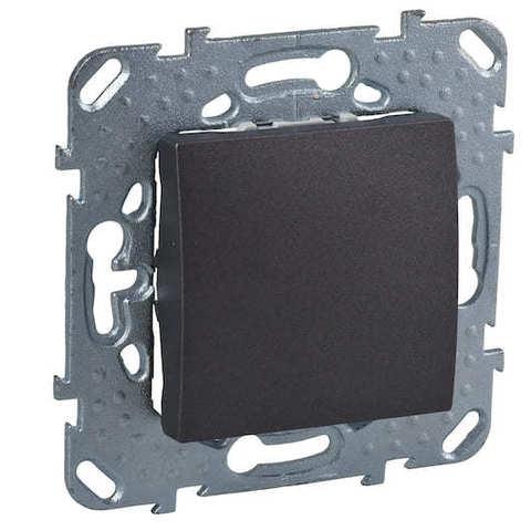 Выключатель одноклавишный. Цвет Графит. Schneider electric Unica Top. MGU5.201.12ZD