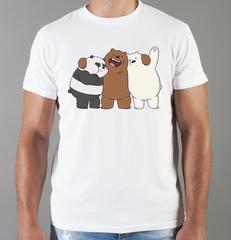 Футболка с принтом Панда, Медвежонок (Panda) белая 003