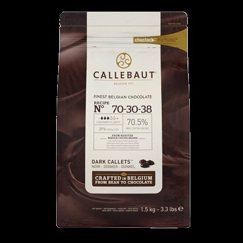 Горький бельгийский шоколад (таблетки) 70.5% BARRY CALLEBAUT, 250 гр