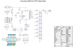 Converter ABCD BandData to Yaesu FT-817 Band data voltage for JUMA & SunSDR2
