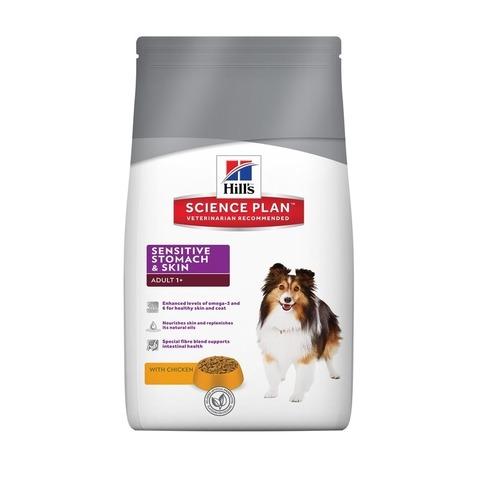 Hill's Science Plan  сухой корм для собак для здоровья кожи и пищеварения Sensitive Stomach & Skin