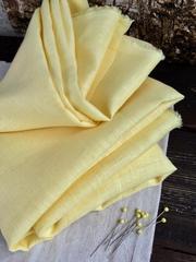 Лен костюмный 100%, Пастельный желтый