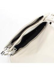 Белая сумка из натуральной кожи