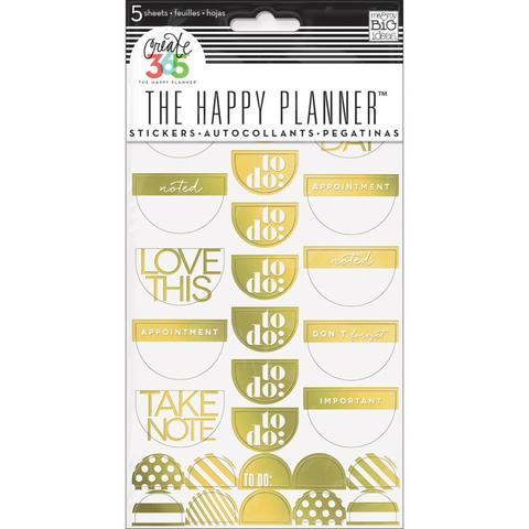 Блокнот со стикерами для ежедневника Create 365 Planner Stickers- Take Note Gold Foil