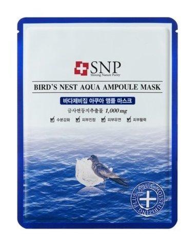 SNP Bird's Nest Aqua Ampoule Mask (10PC)