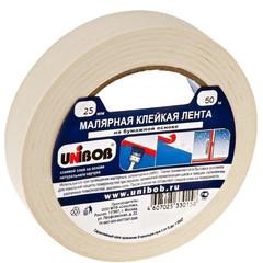 Клейкая лента малярная Unibob 25мм х 50м