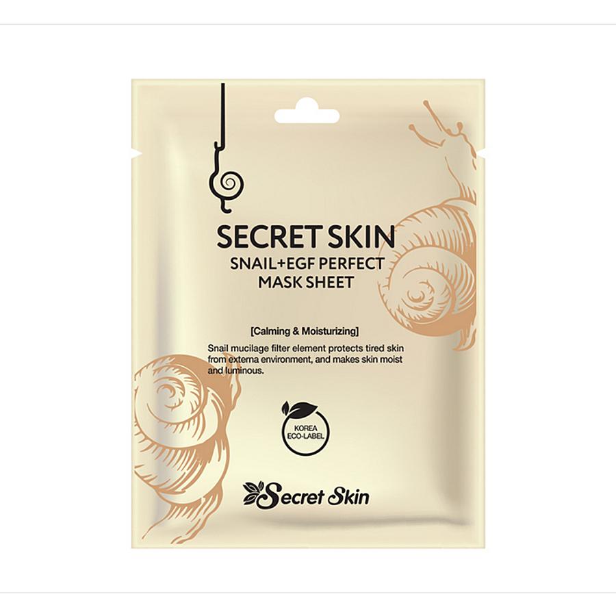 Увлажняющие Маска тканевая для лица Secret Skin с экстрактом улитки SECRETSKIN SNAIL+EGF PERFECT MASK SHEET 20гр 1__1_.jpg
