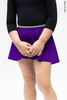 Юбка на запах с контрастным серым поясом | фиолетовый