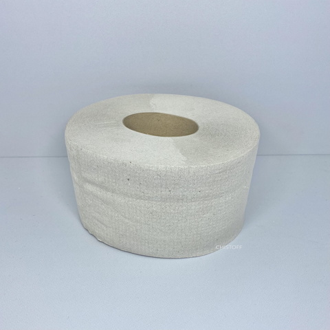 Туалетная бумага макулатурная Джамбо 1сл. 90 м серая
