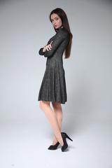Платье из люрекса и полиэстера недорого