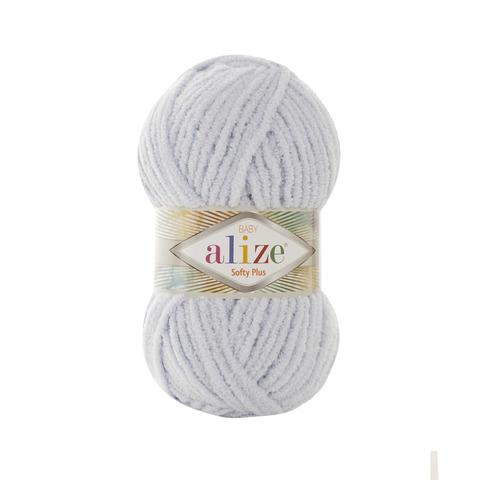 Купить Пряжа Alize Softy Plus Цвет 500 Светло-серый | Интернет-магазин пряжи «Пряха»