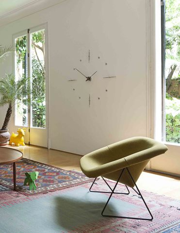 Настенные часы Mixto N хром-орех 125 cm