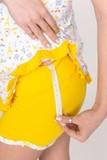 Пижама для беременных и кормящих 08789 желтый
